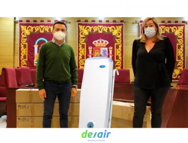 El ayuntamiento de las Cabezas de san juan ( Sevilla ), nos ha confiado la desinfección del aire  de sus centros educativos.