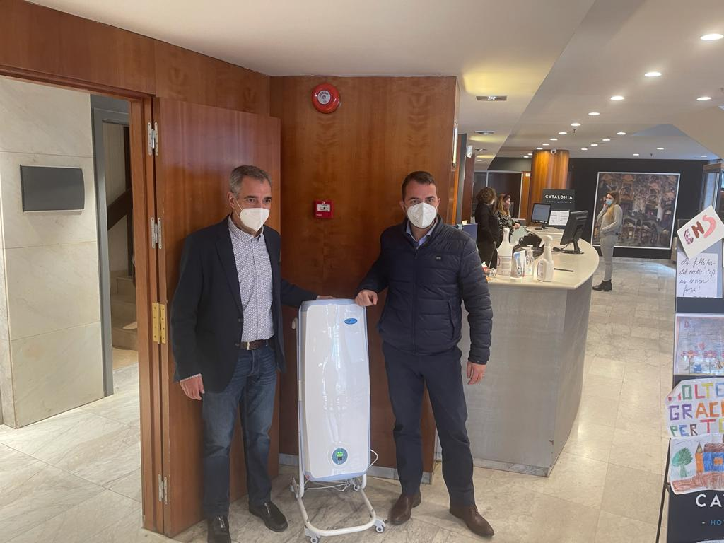 Desair dota de Purificadores de aire al  Hotel Salut Catalonia Barcelona 505